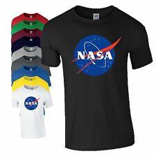 NASA T Shirt Centre Logo Space Astronaut Geek Nerd Big Bang Christmas Mens Top