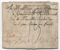 1835 Baltimore Ohio manuscript stampless letter transatlantic to France! [1240]