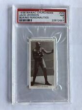 Jack Johnson Boxing Personalities 1938 WA&AC Churchman #20 PSA NM 7