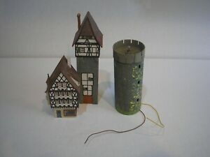 OO HO JOB LOT 3  PARTS ITEM TOWER CASTLE HOUSE BUILDING  WORKING LIGHT