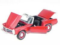Mercedes R113 W113 230 SL Pagode rojo coche en miniatura Leo 1:24