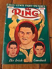 1939 THE RING MAGAZINE-PAT COMISKEY BILLY CONN JOEY ARCHIBALD