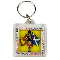 Scotland Royal Banner & Flag Clear Plastic Key Ring Chain Souvenir