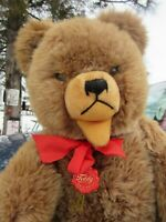 "VINTAGE TEDDY BEAR BIG 20"" HERMANN GROWLER ORIGINAL GERMAN TEDDY W TAGS HUGGABLE"