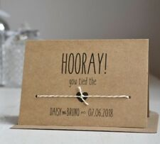 Personalised Handmade Tied Knot Wedding Day Congratulations Card Vintage Rustic