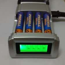Premium Battery Charger with 4 Slots Smart Intelligent Battery EU Charger AA/AAA