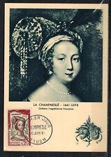 1961-Carte Maximum 1°Jour-La Champmeslé-Comédiens francais -Rouen-Timbre-Yv.1301