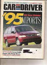 Car & Driver Nov 1994 - Honda Odyssey - Lexus LS 400 - Jaguar XJ6 - Range Rover