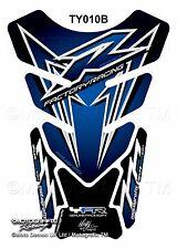 Yamaha YZF R1 / R6 Blue Black Motorcycle Tank Pad Motografix 3D Gel Protector