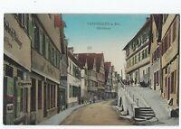 Vaihingen a. Enz Muhlstrasse Germany Divided 1913 Postcard Herman Bitz 10 72769