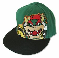 "SUPER MARIO ""CORNER BOWSER"" GREEN/BLACK BASEBALL HAT CAP NEW OFFICIAL ADULT"