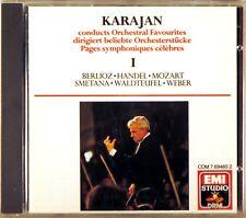 EMI CD W. GERMANY 1988 Handel Mozart KARAJAN Orchestral Favourites CDM 7-69465-2