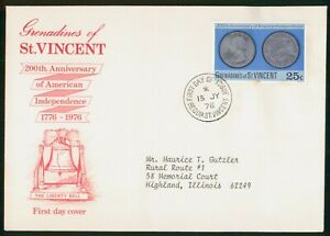 Mayfairstamps Grenadines St Vincent FDC 1976 Anniv American Indep Coins First Da