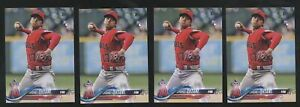 Lot (x4) 2018 Topps Update Series SHOHEI OHTANI Rookie RC Los Angeles Angels