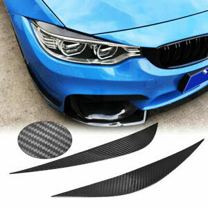 Carbon Fiber Headlight Eyelids Eyebrow Cover for BMW F32 F33 F36 F80 F83 M3 M4