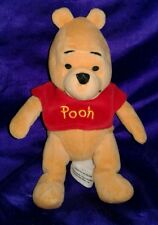 "8"" Winnie the Pooh w/Red Shirt Stuffed Plush Doll Toy Boy Girl Disney Collection"