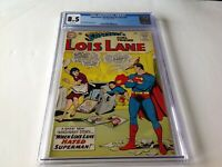 SUPERMANS GIRLFRIEND LOIS LANE 39 CGC 8.5 WHITE PAGES SUPERBABY DC COMIC
