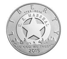 2015 U.S. Marshals Service 225th Anniversary Proof Silver Dollar w/ COA