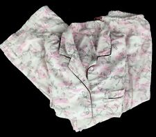 Victoria's Secret Pink Ribbon Breast Cancer Awareness Flannel Pajamas Small
