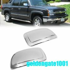 Chrome Side Rearview Mirror Cover Trims For Chevy Suburban Tahoe Silverado GG