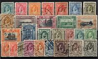 P130373/ BRITISH TRANSJORDAN / LOT 1930 – 1946 USED CV 177 $