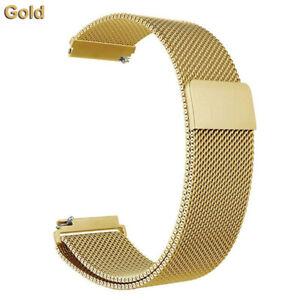 For Fitbit Versa 1 2 Lite Metal Magnetic Loop Strap Stainless Steel Wrist Band