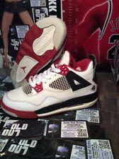 Nike Air Jordan IV 4 Retro White Red-Blk 2006 Mars Blackmon 308498-162 SZ 3.5 Y