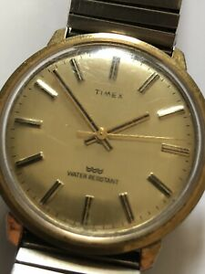 Vintage Timex WristWatch Mechanical Hand Wind Watch Working Needs Attention Old