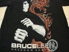 Bruce Lee Dragon's Shadow Asian Movie Film Show Karate Black T Shirt S