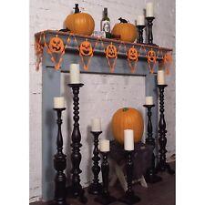 USA Made Rustic Retro Lace Halloween Pennant Banner Pumpkin Jack OLantern Decor