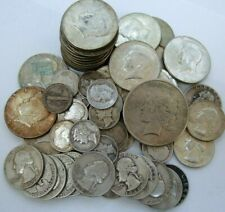New ListingHuge Lot of Silver Coins with 90% Silver Dollar Half Dollars Quarters Dimes #1Ba