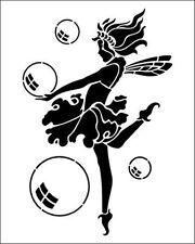 Bulle fairy/lutin 190m mylar réutilisable pochoir-A5-taille d'image 16 x 9.5 cm