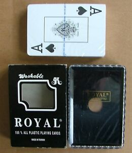 New Sealed Royal Washable 100% all Plastic Playing Cards PC069