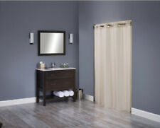 "Hookless Shower Curtain Beige Litchfield Weave Polyester Fabric 71"" X 74"""