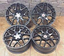 "18"" 18 Inch Black HRE Audi Volkswagen Mercedes Benz Wheels Rims Spec 4set 5x112"