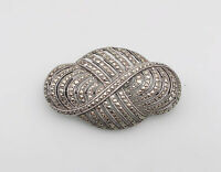 8625216 925er Silber Markasiten-Brosche Art deco