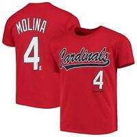 Youth Yadier Molina Red St. Louis Cardinals Name & Number T-Shirt