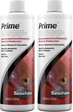2x Seachem Prime 500ml Water Conditioner Chlorine Remover Aquarium