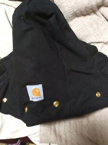 NEW CARHARTT REPLACEMENT 4 BUTTON SNAP ON HOOD BLACK ARTIC QUILT LINED A02 DWY
