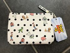TOY STORY 4 COIN PURSE/MAKE UP BAG..BUZZ,WOODY,REX,MR POTATO HEAD,HAMM ALL OVER