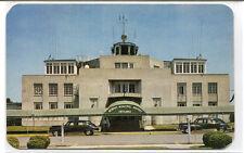 Municipal Airport Terminal Building Cars Memphis Tennessee postcard