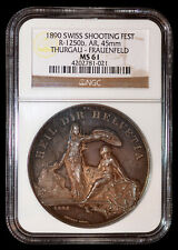 NGC MS61 Suisse 1890 Thurgau-Frauenfeld Chasse Fest