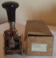 Numeratore Meccanico Universal Vintage