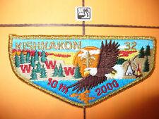 OA Kishkakon 32,S-6a, 2000,10th Ann Flap,Trails West Council,51,81,94,115,126,IL