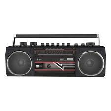 Ace: Retro Radio Black Cassette Player Bluetooth MP3 HIFI Stereo Sound System