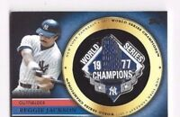 2012 Topps baseball card GCP-RJ Reggie Jackson New York Yankees World Series pin