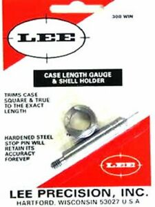 LEE 90139 308 WINCHESTER CASE LENGTH GAUGE &  SHELL HOLDER