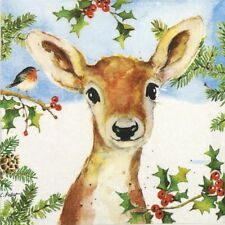4x Paper Napkins for Decoupage Craft and Party - Carola Pabst: Hey Deer!