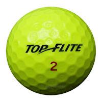 100 Top-Flite D2 Mix Gelb Golfbälle im Netzbeutel AA/AAAA Lakeballs Golf yellow
