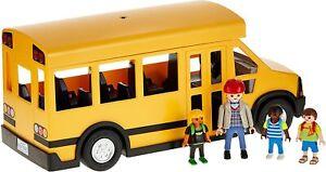 Playmobil City Life Kids School Bus Vehicle Toy Flashing Lights 5680 NEW